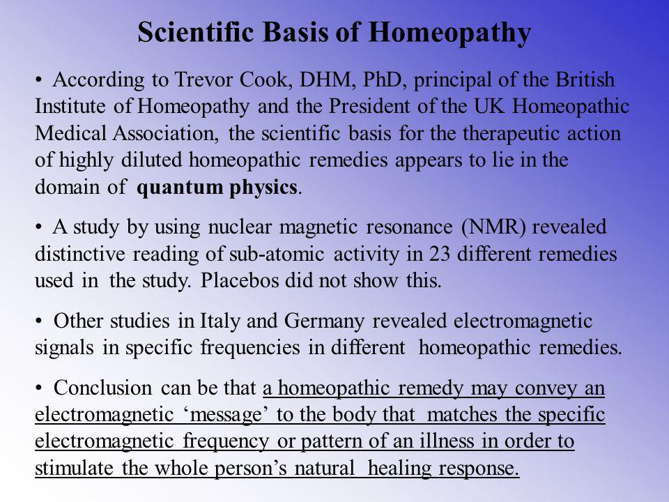 Scientific Basis of Homeopathy