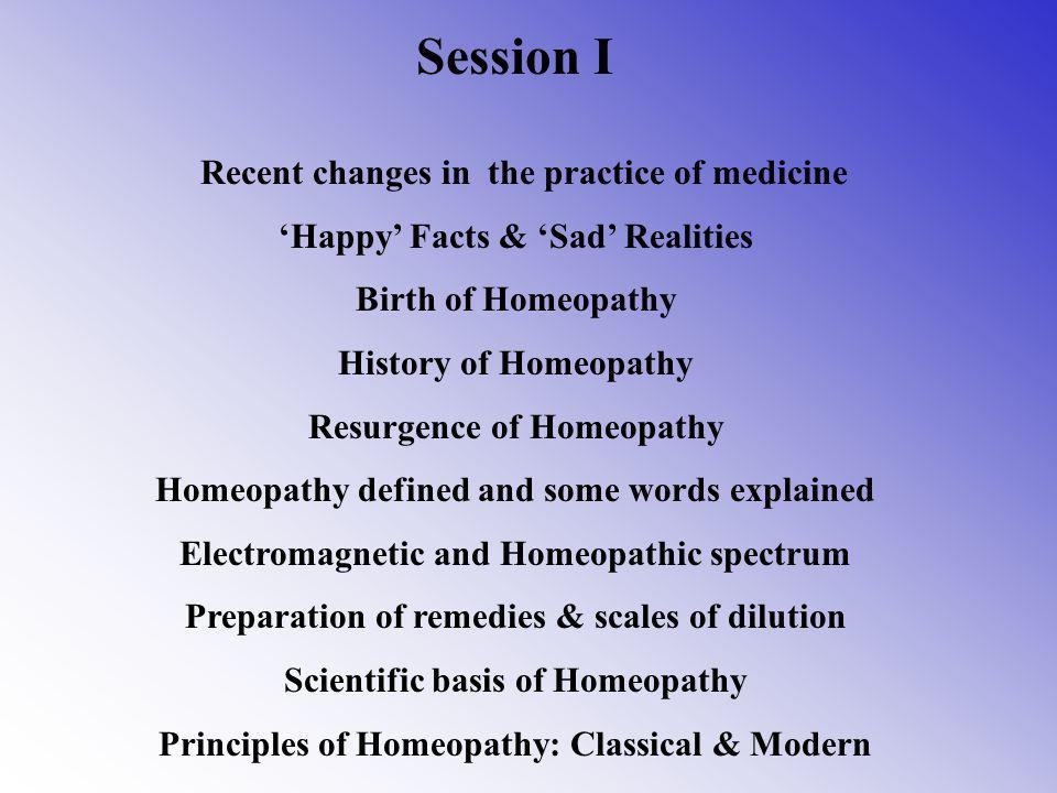 Session I Recent changes in the practice of medicine