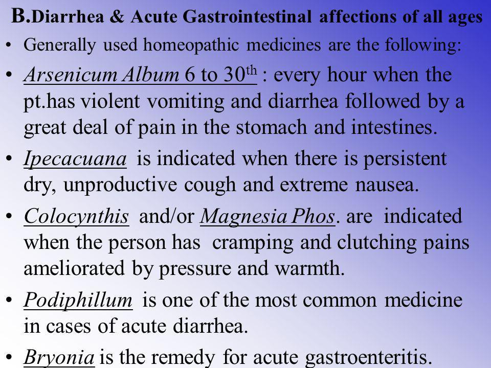 B.Diarrhea & Acute Gastrointestinal affections of all ages