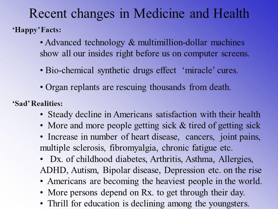 Recent changes in Medicine and Health