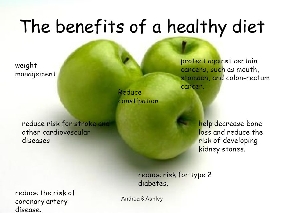 The benefits of a healthy diet
