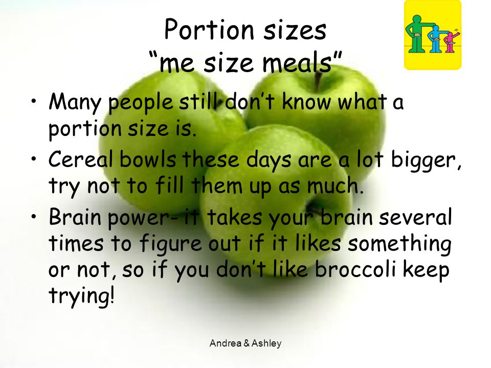 Portion sizes me size meals