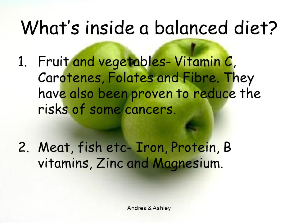 What's inside a balanced diet