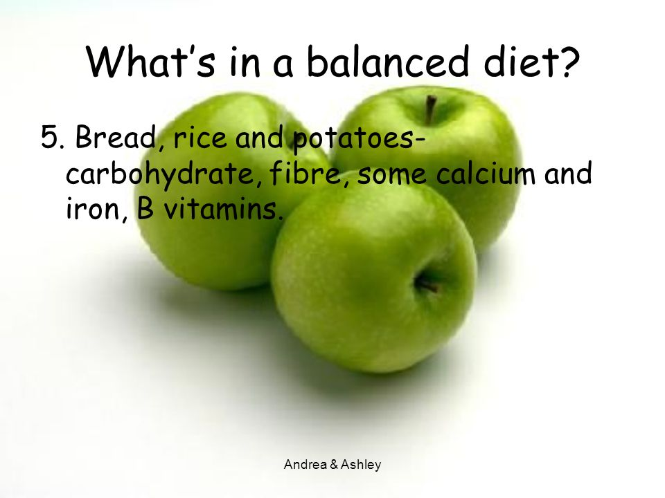 What's in a balanced diet