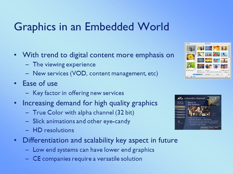 Graphics in an Embedded World