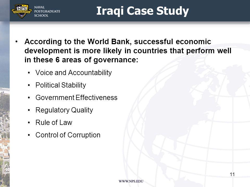Iraqi Case Study