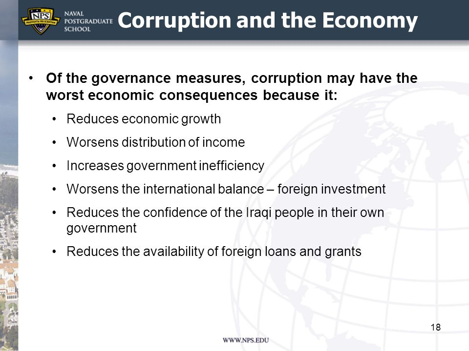 Corruption and the Economy