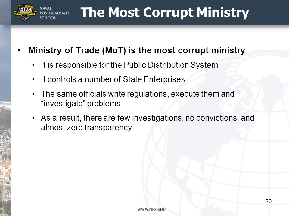 The Most Corrupt Ministry