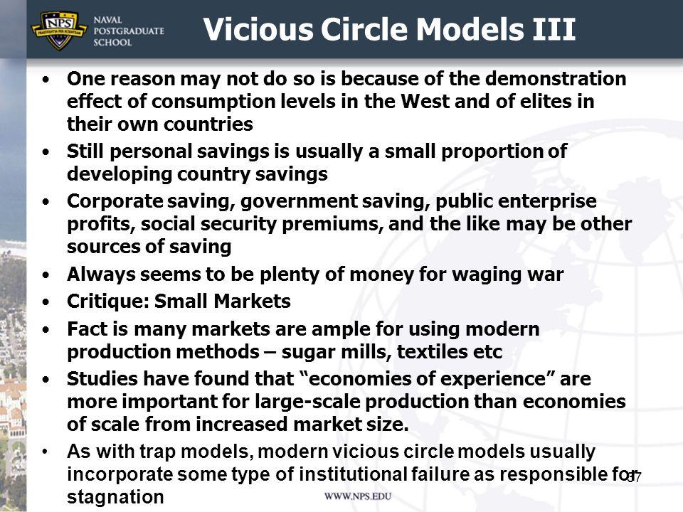 Vicious Circle Models III