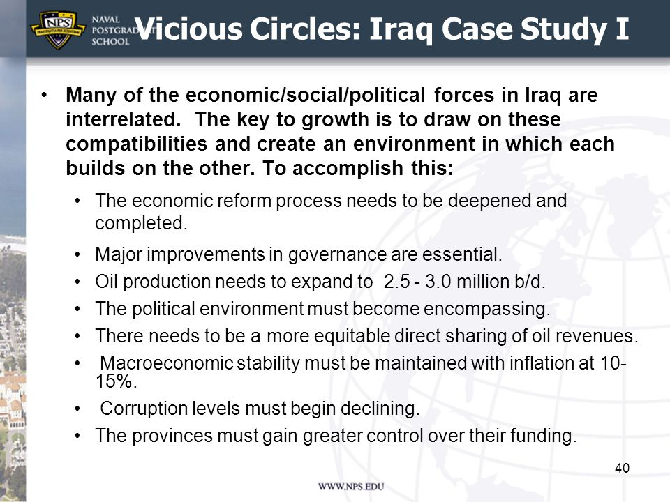 Vicious Circles: Iraq Case Study I