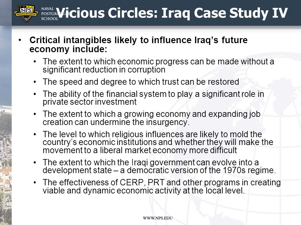Vicious Circles: Iraq Case Study IV
