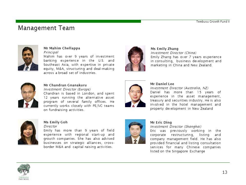 Management Team Strong and Diverse Management Team