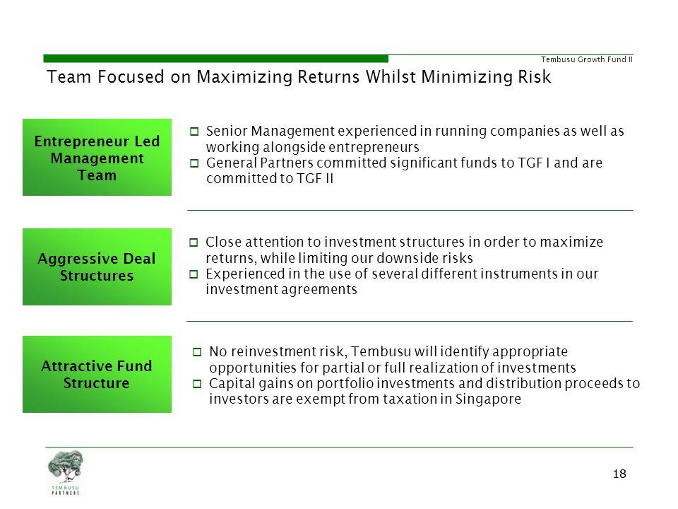 Team Focused on Maximizing Returns Whilst Minimizing Risk