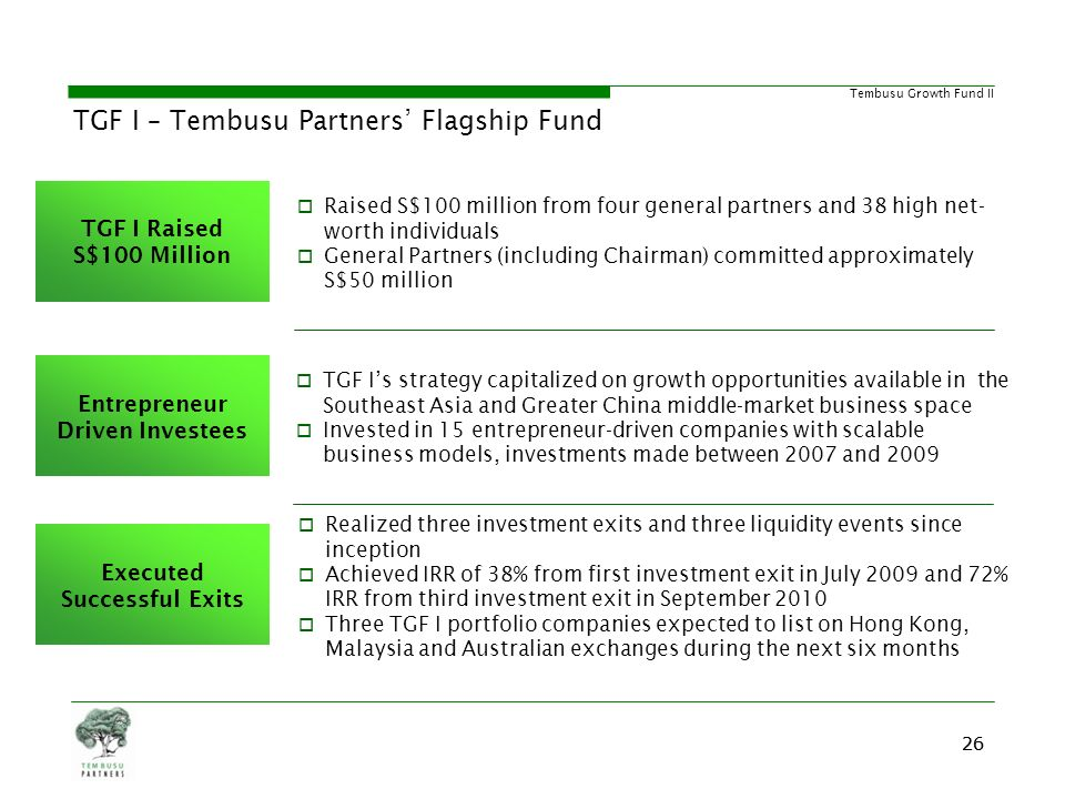 TGF I – Tembusu Partners' Flagship Fund