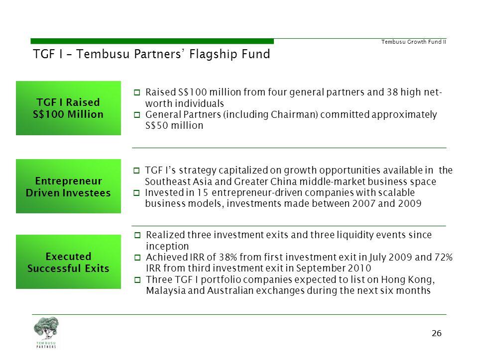 TGF I – Tembusu Partners' Flagship Fund
