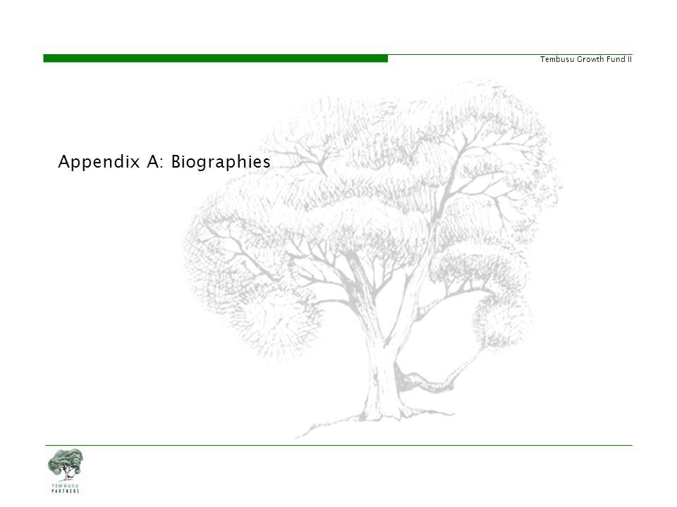 Appendix A: Biographies