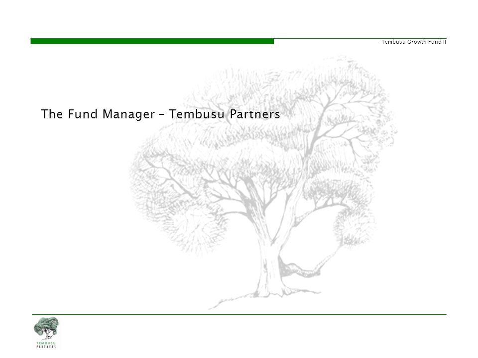 The Fund Manager – Tembusu Partners
