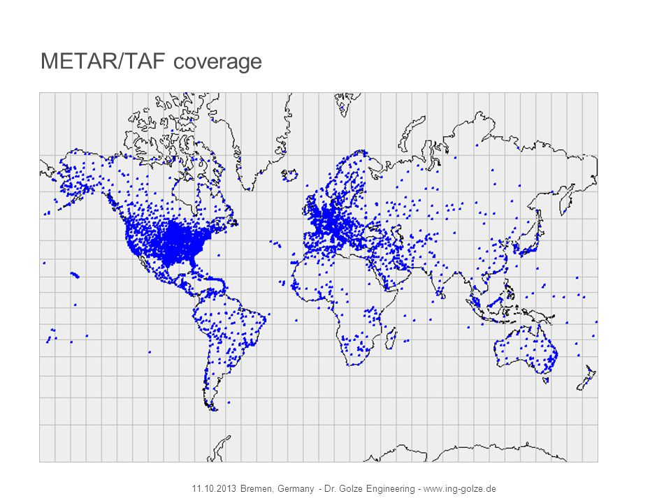METAR/TAF coverage 11.10.2013 Bremen, Germany - Dr. Golze Engineering - www.ing-golze.de