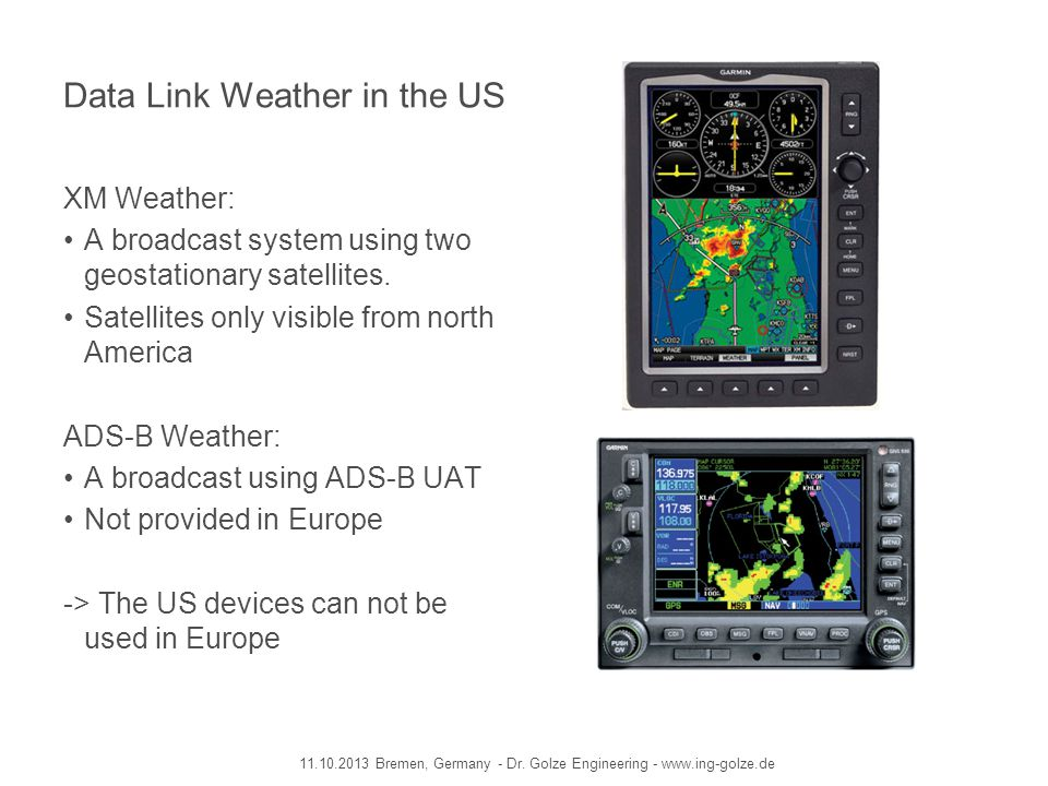 Data Link Weather in the US