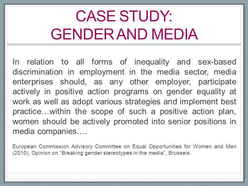 Case study: gender and Media
