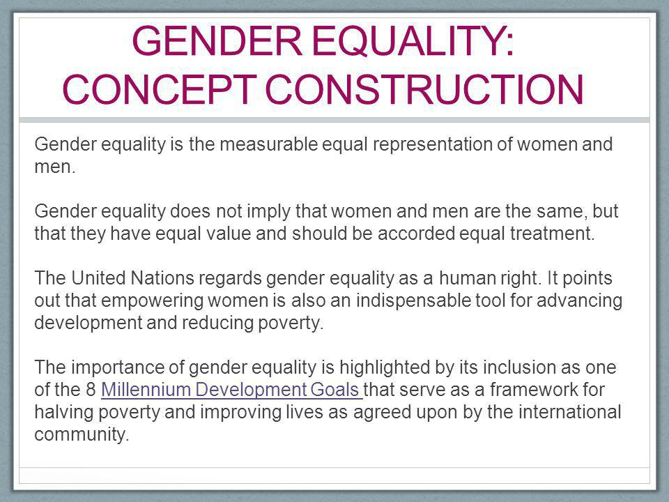 Gender equality: concept construction