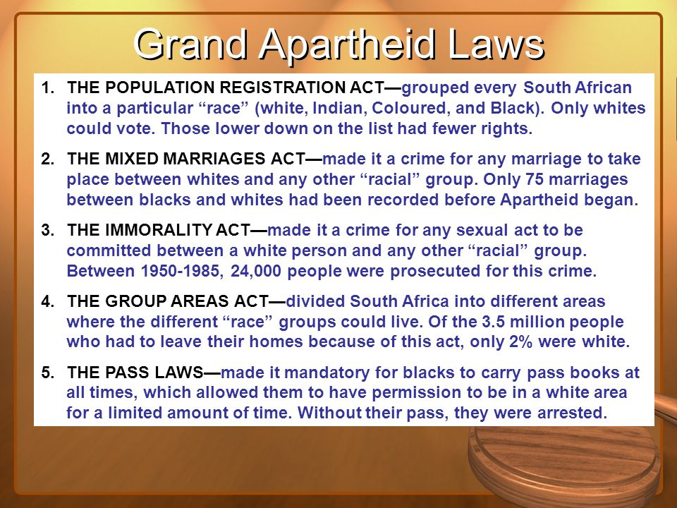 Grand Apartheid Laws