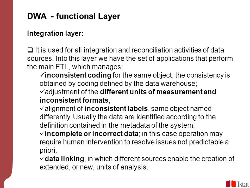 DWA - functional Layer Integration layer: