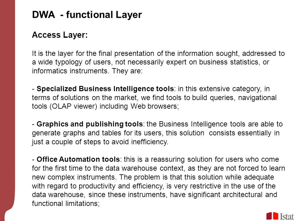 DWA - functional Layer Access Layer: