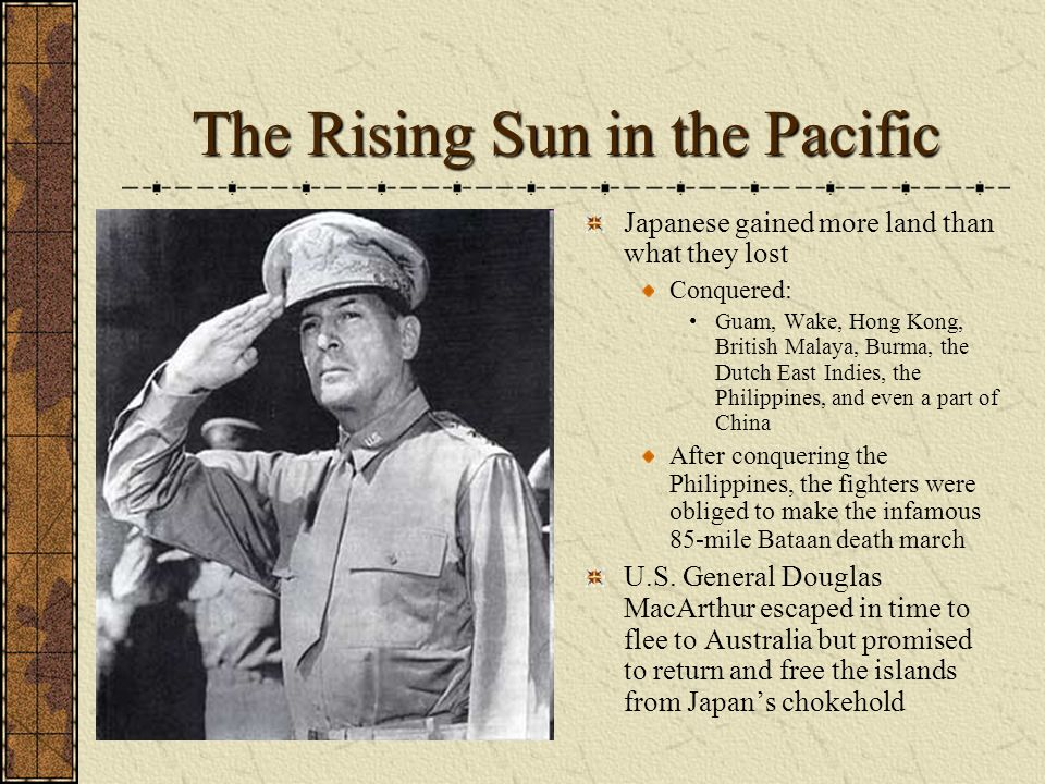 The Rising Sun in the Pacific