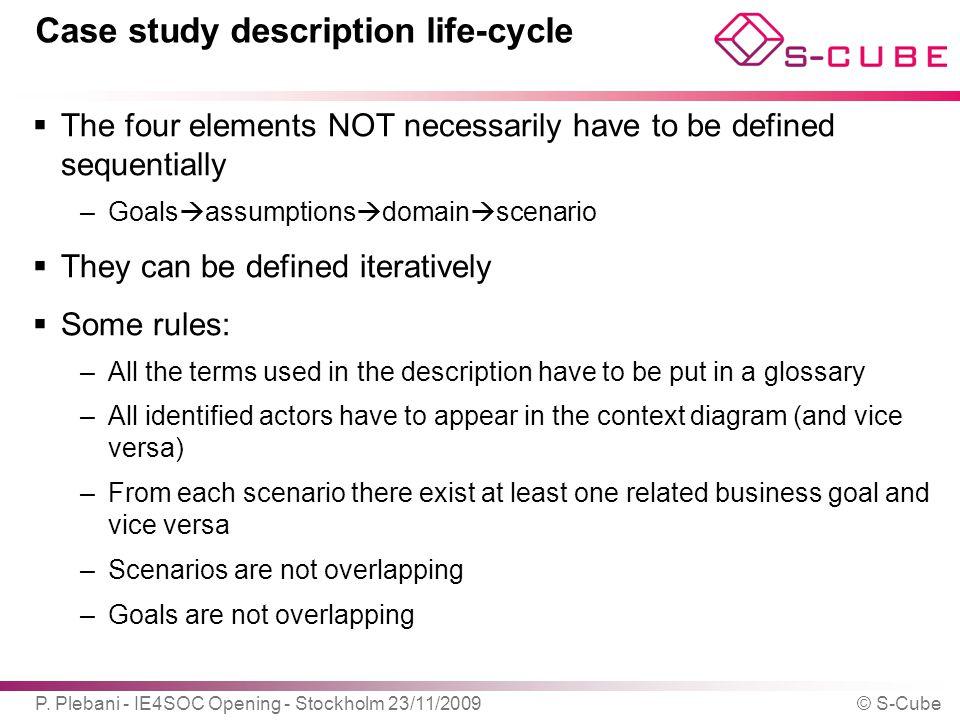 Case study description life-cycle