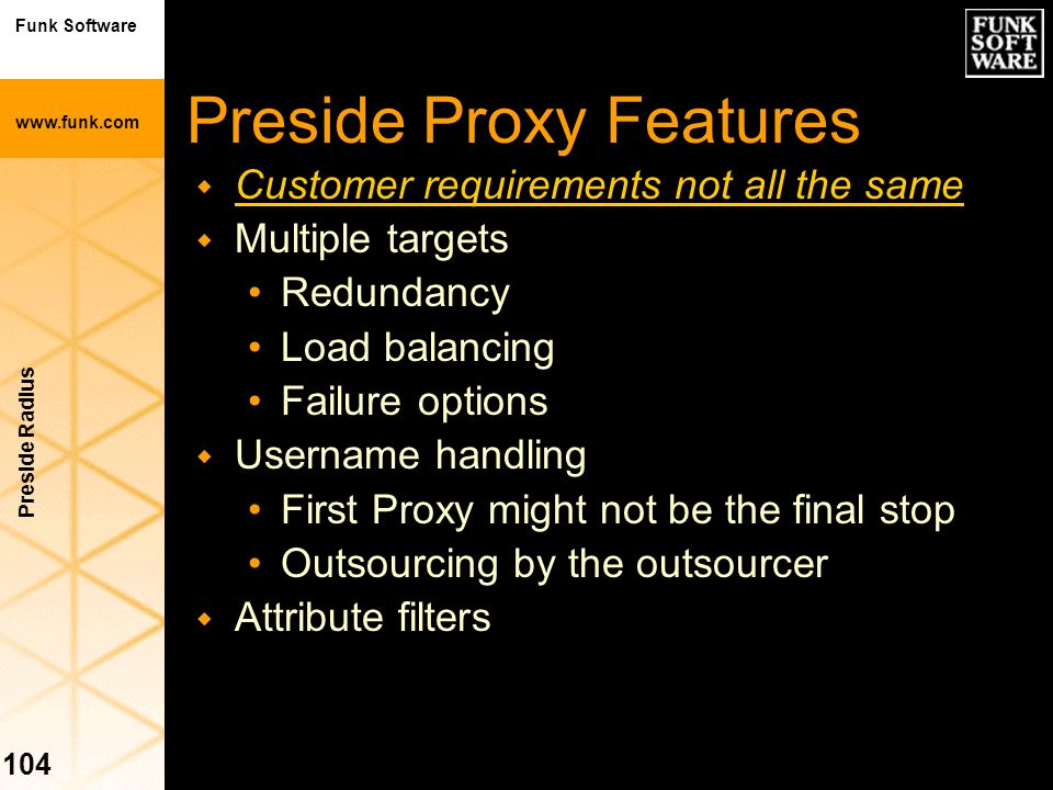 Preside Proxy Features