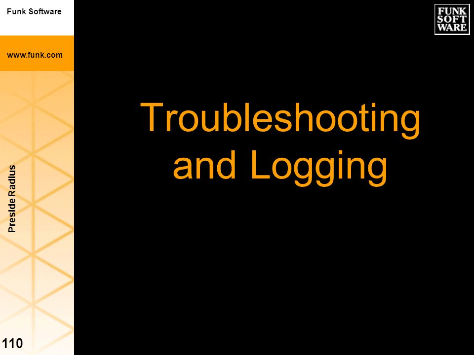 Troubleshooting and Logging