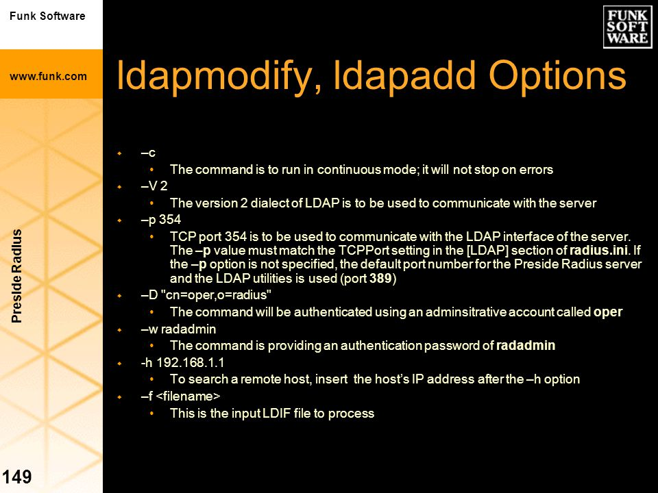 ldapmodify, ldapadd Options