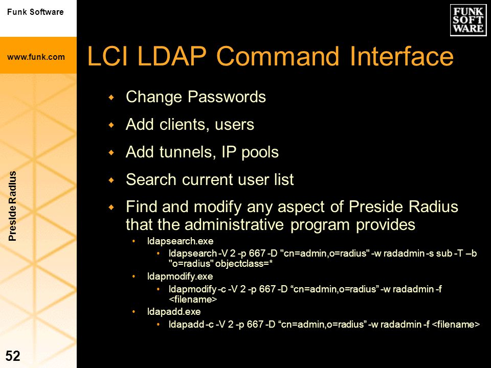 LCI LDAP Command Interface