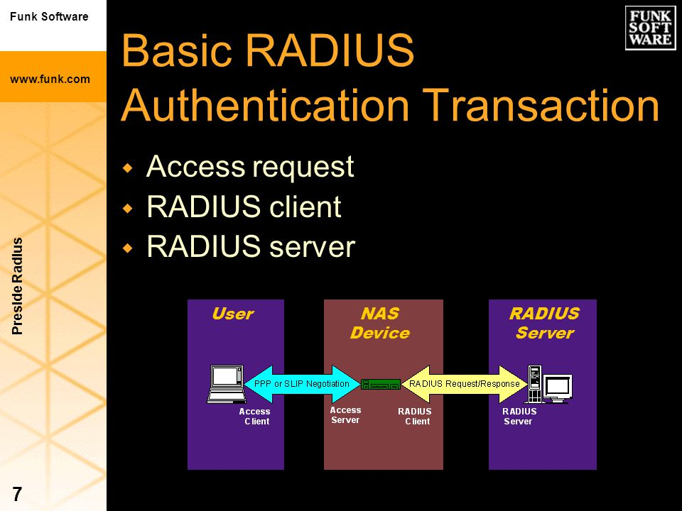 Basic RADIUS Authentication Transaction