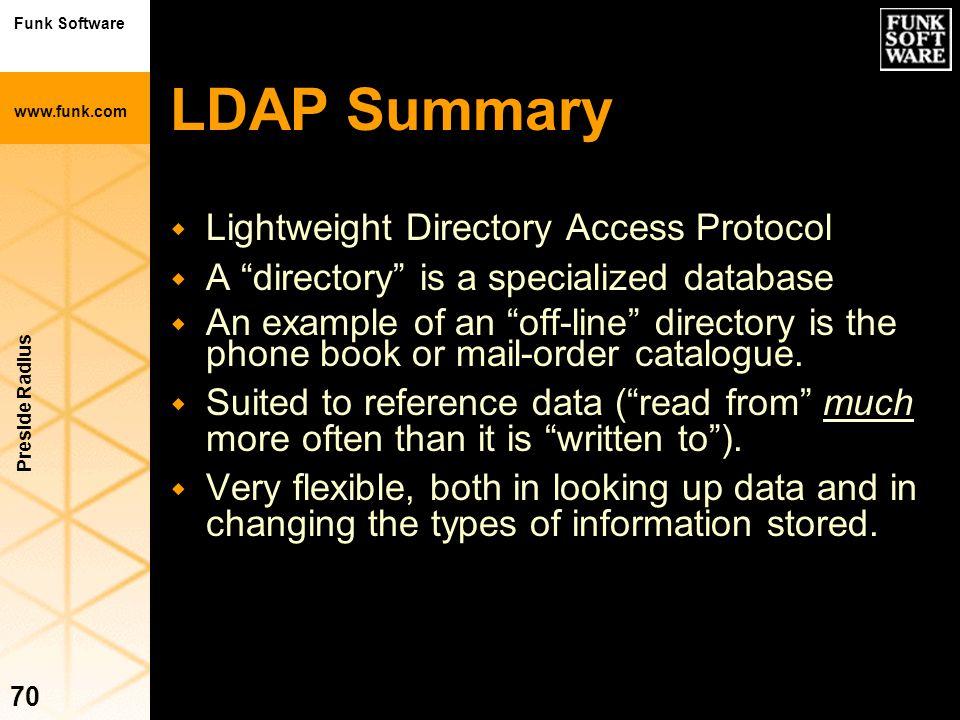 LDAP Summary Lightweight Directory Access Protocol