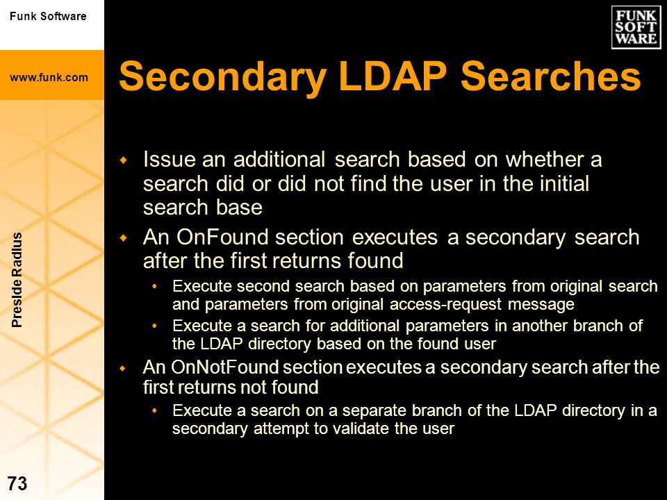 Secondary LDAP Searches