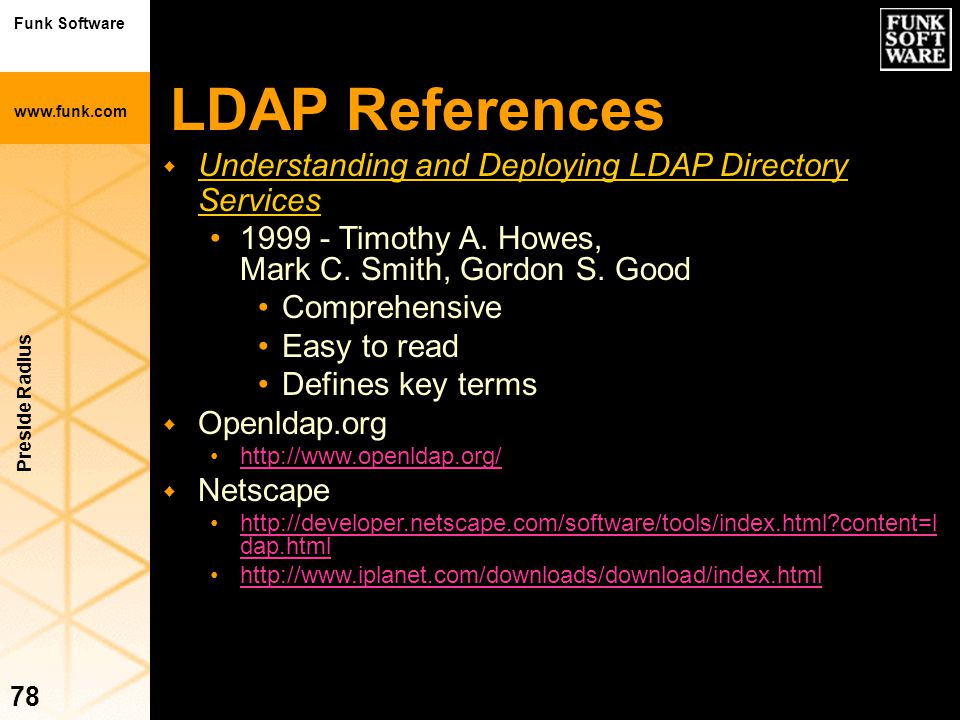 LDAP References Understanding and Deploying LDAP Directory Services