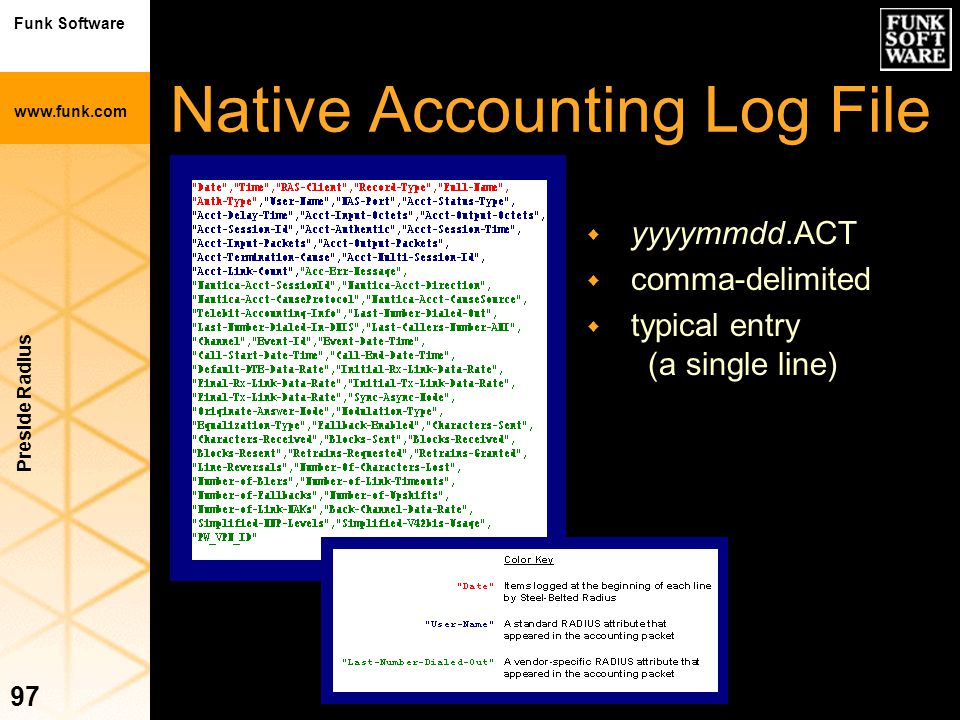 Native Accounting Log File