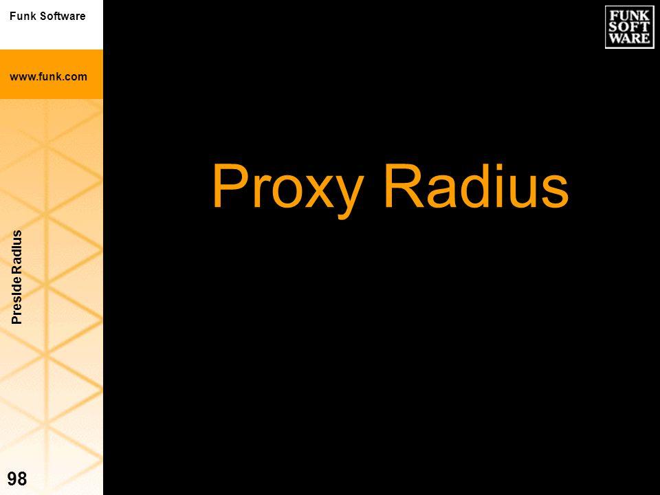 Proxy Radius Preside Radius