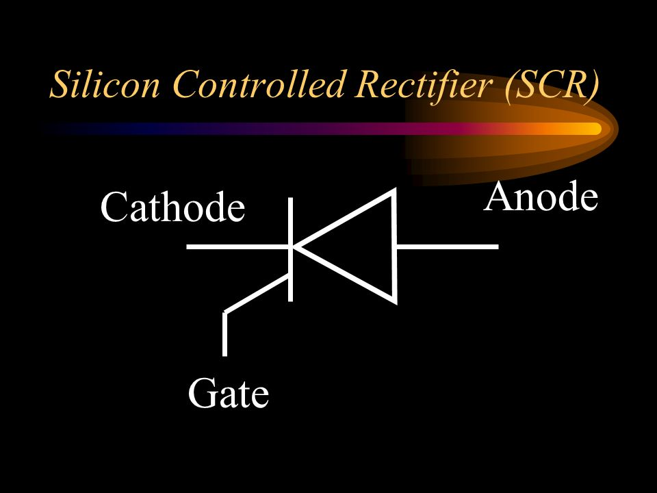 Silicon Controlled Rectifier (SCR)