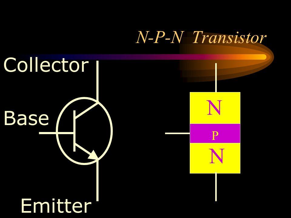 N-P-N Transistor Collector N Base P N Emitter