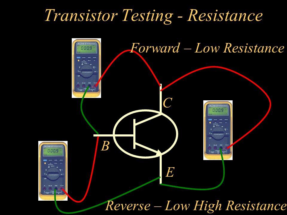 Transistor Testing - Resistance