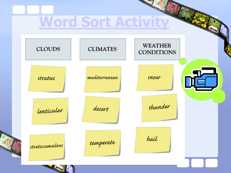 Word Sort Activity