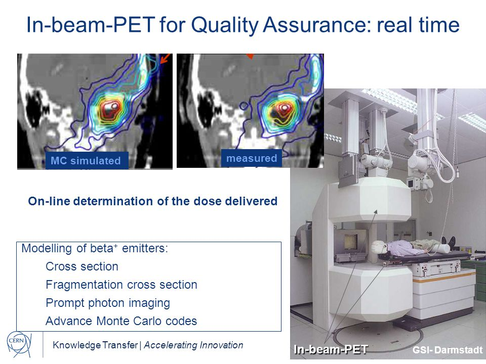 In-beam-PET for Quality Assurance: real time