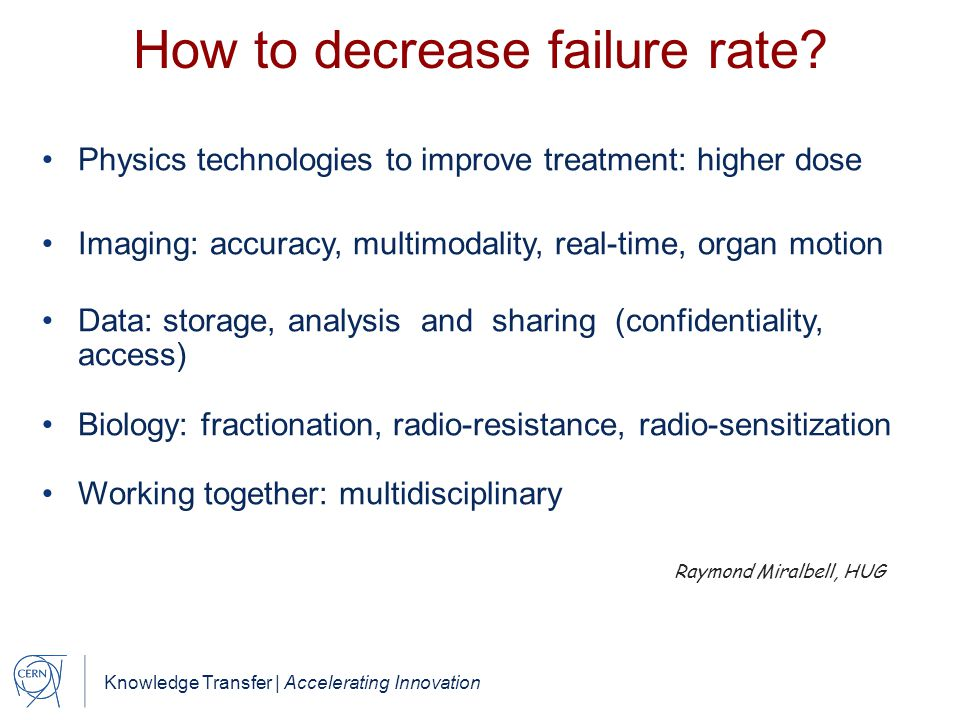 How to decrease failure rate