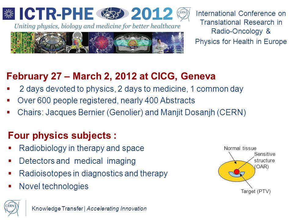 February 27 – March 2, 2012 at CICG, Geneva