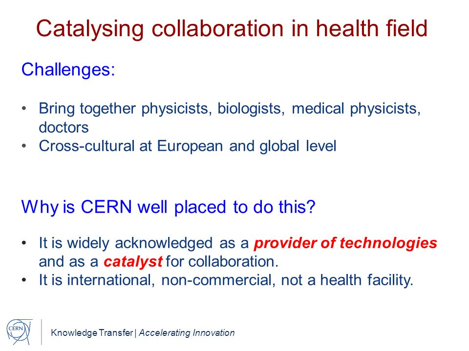 Catalysing collaboration in health field