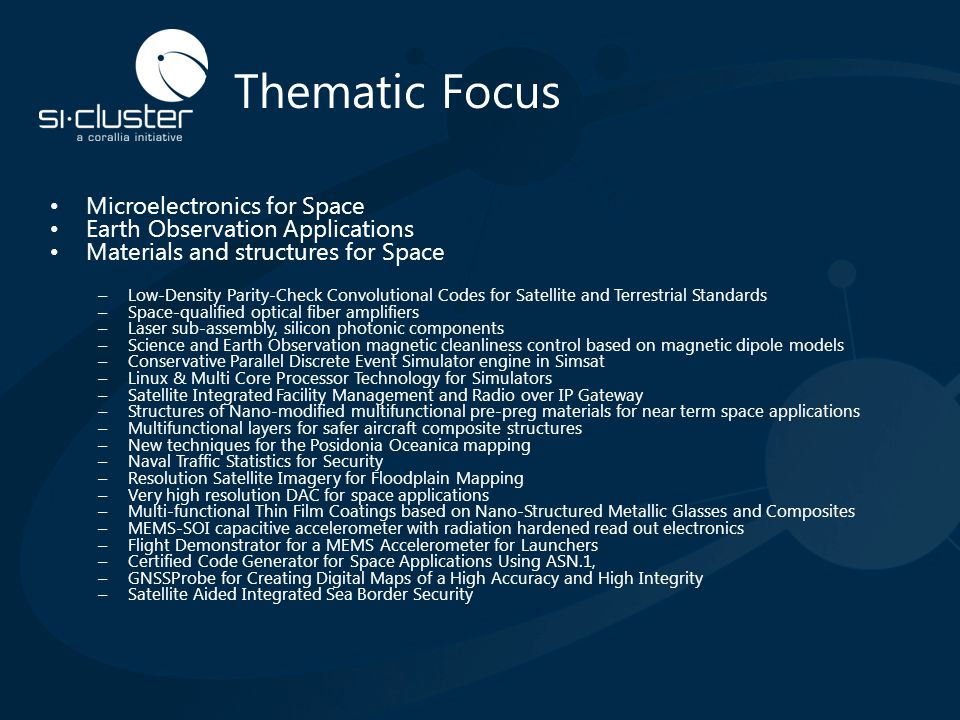 Thematic Focus Microelectronics for Space