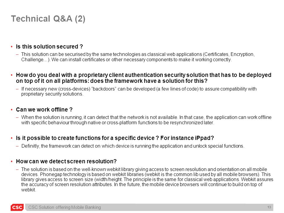 Technical Q&A (2) Is this solution secured